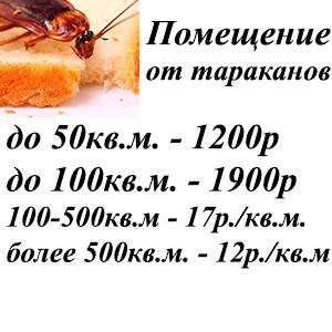 Уничтожение тараканов в помещении